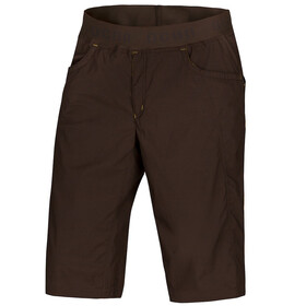 Ocun Mánia Shortsit Miehet, brown/yellow